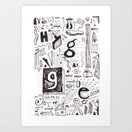 """HYGGE"" (invert) Art Print"