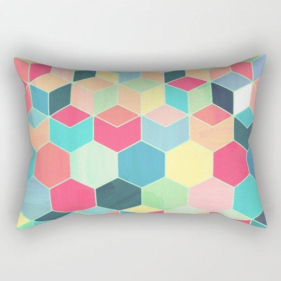 Yummy Summer Colour Honeycomb Pattern Rectangular Pillow