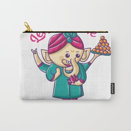 Quirky Wedding Ganesha Carry-All Pouch