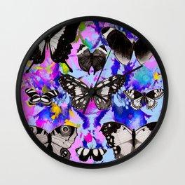 Tie Dye Butterflies Wall Clock