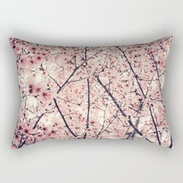 Blizzard of Blossoms Rectangular Pillow