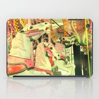 carousel iPad Cases featuring Carousel by elle moss
