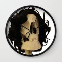 skeleton Wall Clocks featuring skeleton by Francesco Mestria