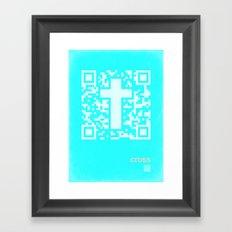 QR Cross Framed Art Print