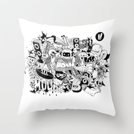 Smiley Fingers illustration 01 Throw Pillow