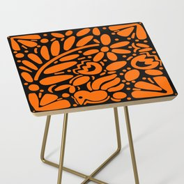 Beautiful Orange Otomi Side Table