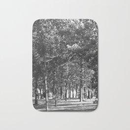 Black-and-White Woods Bath Mat