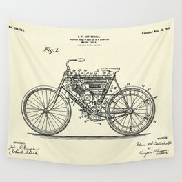 Motor Cycle-1901 Wall Tapestry