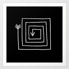 Square Arrow Art Print
