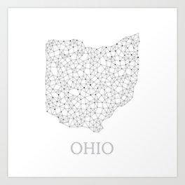 Ohio LineCity W Art Print