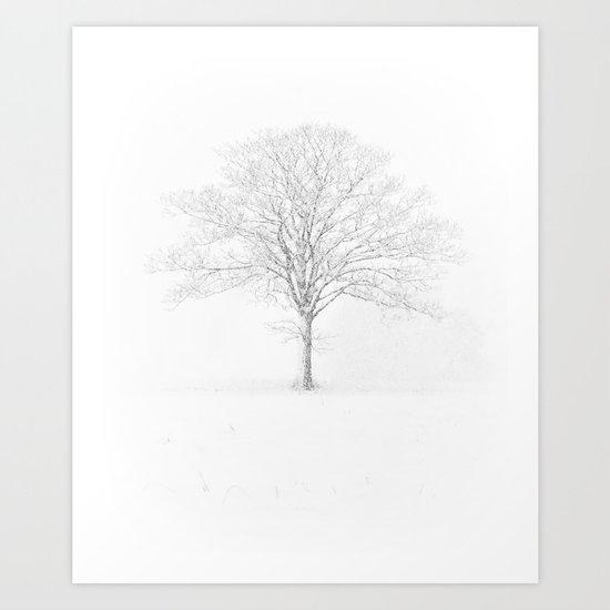 Tree in the Snow Art Print