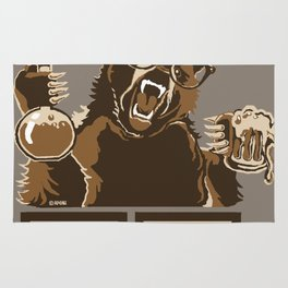 Funny chemistry bear discovered beer Rug
