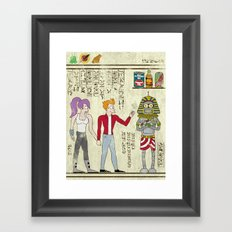 Hero-glyphics: Planet Express  Framed Art Print