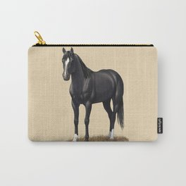Beautiful Black Stallion Quarter Horse Carry-All Pouch