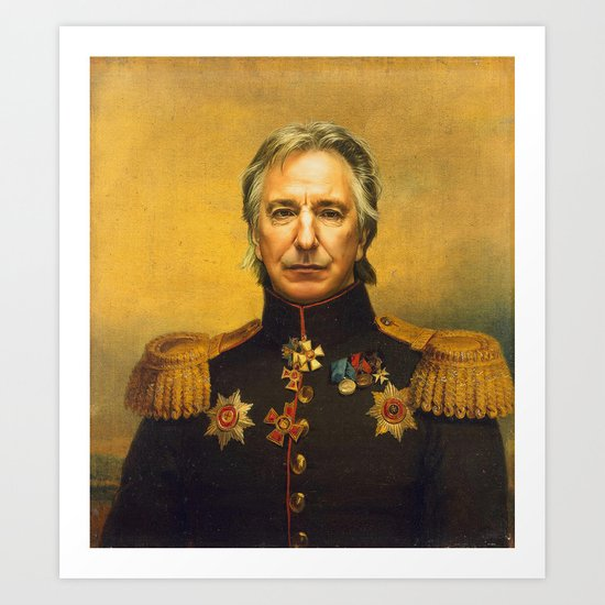 Alan Rickman - replaceface Art Print