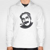 marx Hoodies featuring Groucho Marx by Alejandro de Antonio Fernández