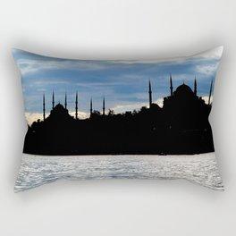 Sultanahmet Camii Skyline Istanbul Turkey Rectangular Pillow