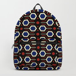Vintage wallpaper from seventies - Electro version. Backpack