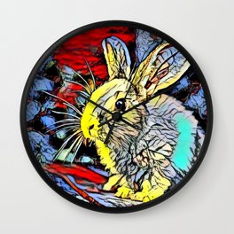 Color Kick - Bunny Wall Clock