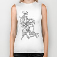 pie Biker Tanks featuring Pie by The Pearly Owl