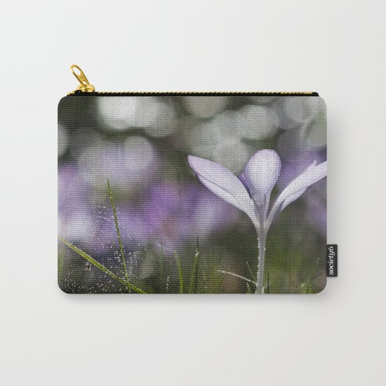 Blue Spring Flower  Crocus - Floral Carry-All Pouch