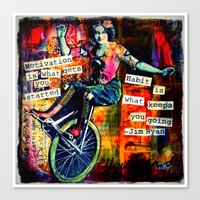 motivation Canvas Prints featuring Motivation by Rachelle Panagarry
