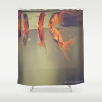breathe Shower Curtains featuring Breathe. by Joëlle