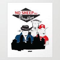No Sheep Till Brooklyn Art Print
