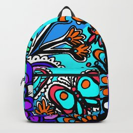 Doodle Art Flowers and Butterflies Backpack