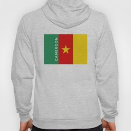 Cameroon country flag name text Hoody