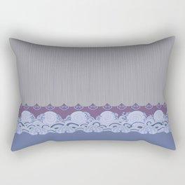 Layered Scallops and Waves Rectangular Pillow