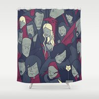 ale giorgini Shower Curtains featuring Ice and Fire by Ale Giorgini