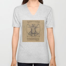 The Vitruvian Bear Unisex V-Neck