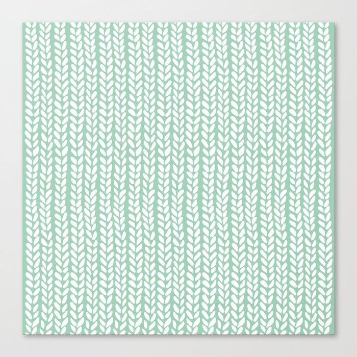 Knit Wave Mint Canvas Print