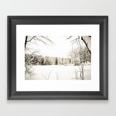On Thin Ice Framed Art Print