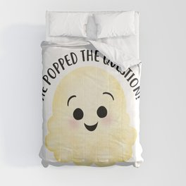 He Popped The Question - Popcorn Comforters
