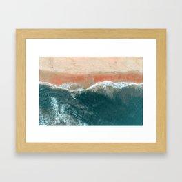 Tropical Drone Beach Photography Framed Art Print