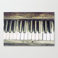 piano Canvas Prints featuring piano by hilde.
