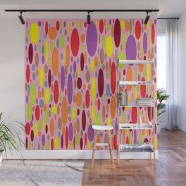 Abstract Pattern Colorful Ovals Wall Mural