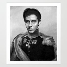 Al Pacino Scar Face General Portrait Painting | Fan Art Art Print