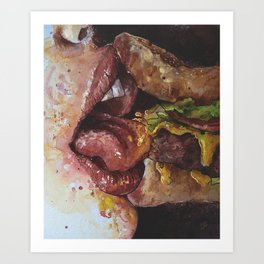 #Foodporn - Burger Shift Art Print