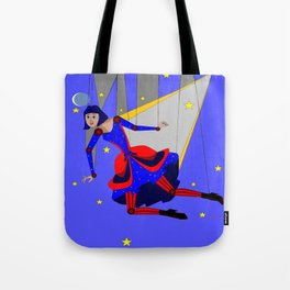 Lady Puppet, Steampunk Style Tote Bag