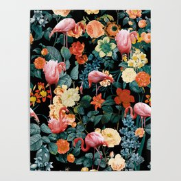 Floral and Flemingo II Pattern Poster