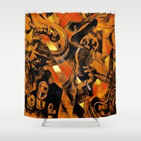 band Shower Curtains featuring band by borma toyen