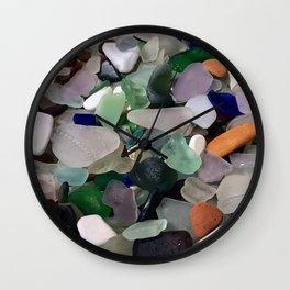 Sea Glass Assortment 6 Wall Clock