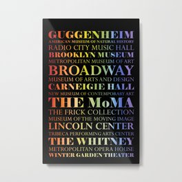 New York City - The Arts - Rainbow Metal Print