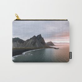 Iceland Mountain Beach Sunrise - Landscape Photography Carry-All Pouch
