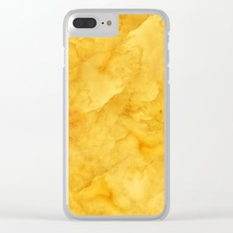 Golden amber texture Clear iPhone Case