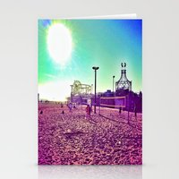santa monica Stationery Cards featuring Santa Monica by SefoG