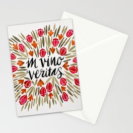 In Wine, There is Truth – Red Stationery Cards